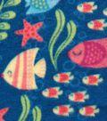 Anti-Pill Fleece Fabric 59\u0022-Kissy Fishies