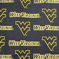 West Virginia University Mountaineers Canvas Fabric -Logo