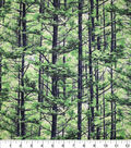 Novelty Cotton Fabric-Green Leaved Trees