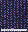 Keepsake Calico Cotton Fabric-Watercolor Stamp Navy