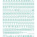 DCWV Home 188 Pack 1\u0027\u0027 Letters-Teal