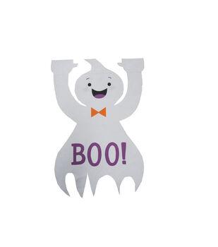 Maker's Halloween 12''x18'' Figural Ghost Flag-Boo!