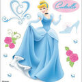 EK Success Disney Dimensional Sticker-Cinderella