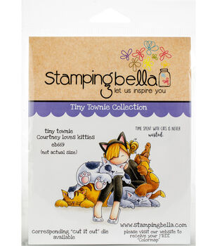 Stamping Bella Rubber Cling Stamps-Tiny Townie Courtney Loves Kitties