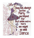 Dance Party Counted Cross Stitch Kit-8\u0022X10\u0022 14 Count