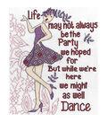 Dance Party Counted Cross Stitch Kit-8\u0022X10\u0022 14 Count