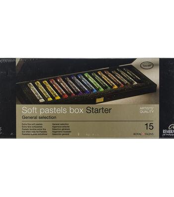 Rembrandt Full Stick Soft Pastels Set In Wooden Box 15/Pkg