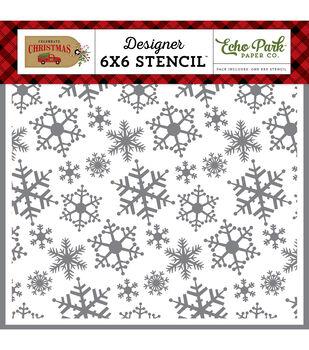 """Echo Park Stencil 6""""X6""""-Magical Snowfall"""