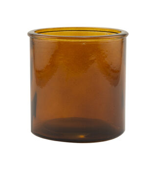 """Northern Lights 4"""" Candle Making Amber Glass Cylinder"""