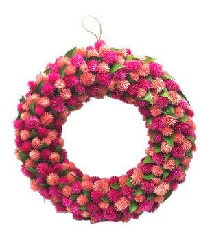Fresh Picked Spring 18'' Osmanthus Flower Wreath-Pink