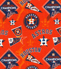 Houston Astros Cotton Fabric -World Series on Orange