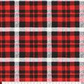 Super Snuggle Flannel Fabric-Alex Red & Gray Plaid
