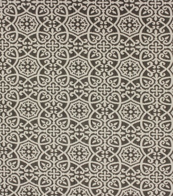 Optimum Performance Multi-Purpose Decor Fabric 54''-Pewter Geometrics