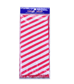 Land of the Free Baking 20 pk Cellophane Treat Bags-Red Stripes