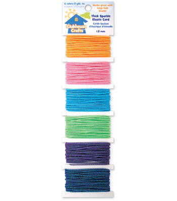 Sulyn Clubhouse Crafts-Thick Sparkle Elastic Cord-6 Colors