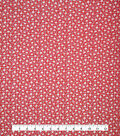 Doodles Fabric 43\u0027\u0027-Dotted & Petite Flowers on Red