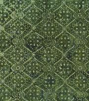 Legacy Studio Indonesian Batiks Cotton Fabric -Green Medallions, , hi-res