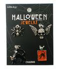 hildie & jo Halloween Skull, Cat & Spider Charms