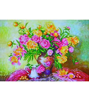 Diamond Dotz Diamond Embroidery Art Kit 29.5''X21.75''-Elegant Rose
