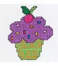Bucilla My 1st Mini Counted Cross Stitch Kit CupCake