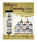 Aunt Martha\u0027s Ballpoint Paint Tubes 1 Ounce 8/Pkg- Country Colors