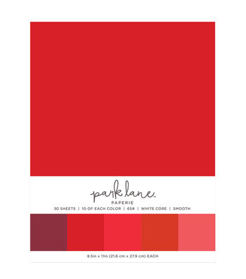 Park Lane 50 pk 8.5''x11'' Value Papers-Reds