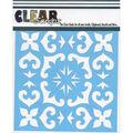 Clear Scraps 12\u0027\u0027x12\u0027\u0027 Stencils-Mexican Tile
