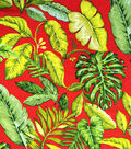 Simply Silky Print Bubble Chiffon Fabric 57\u0022-Tropical Red