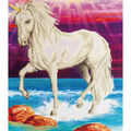 Diamond Embroidery Facet Art Kit 26.5\u0022X22.5\u0022-Magical Unicorn