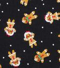 Holiday Showcase Christmas Cotton Fabric 43\u0027\u0027-Gingerbread on Black