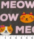 Anti-Pill Fleece Fabric 59\u0022-Happy Kitty Words