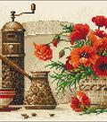 RIOLIS Diamond Mosaic Embroidery Kit 15\u0022X10.75\u0022-Coffee