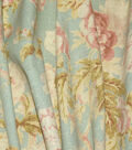 Waverly Upholstery Fabric 54\u0022-Among the Roses Mist