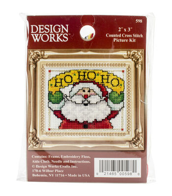 Design Works HO HO HO Ornament Counted Cross Stitch Kit