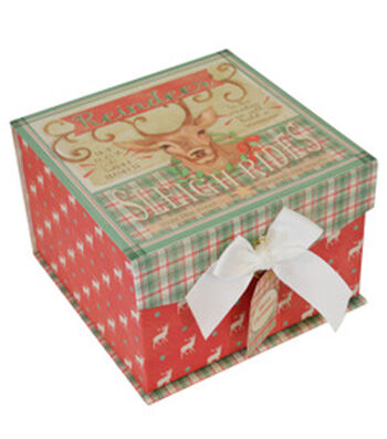 Maker's Holiday Christmas Medium Fliptop Box-Christmas Sign