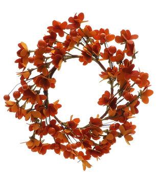 Blooming Autumn Mini Wreath-Orange