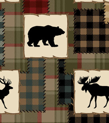 Snuggle Flannel Fabric -Bear Lake Patch
