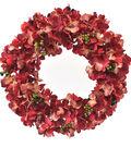 Blooming Autumn Hydrangea & Berries Wreath-Red