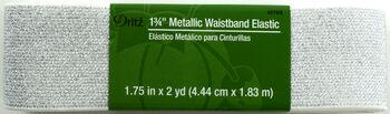 "Dritz 1 3/4"" Metallic Waistband Elastic Silv"