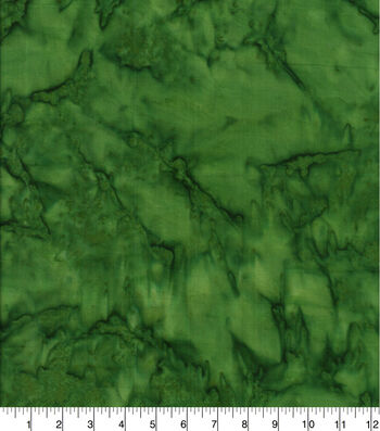 Cotton Fabric 44''-Dark Green Tonal Batik