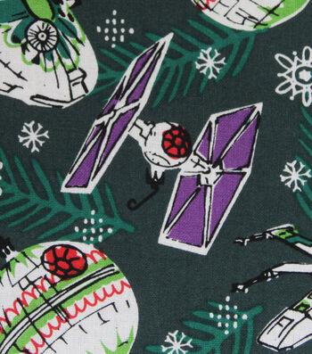 Star Wars Cotton Christmas Print Fabric -Space Ships