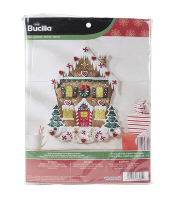Bucilla Nordic Gingerbread House Felt Applique Kit