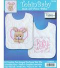 Tobin Baby Stamped Cross Stitch Bedtime Prayer Girl Bib