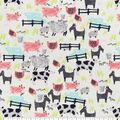 Snuggle Flannel Fabric-Farm Animals