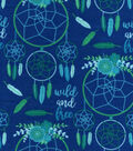 Snuggle Flannel Fabric 42\u0022-Wild Free Dreamcatcher