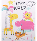No Sew Fleece Throw 48\u0022-Stay Wild