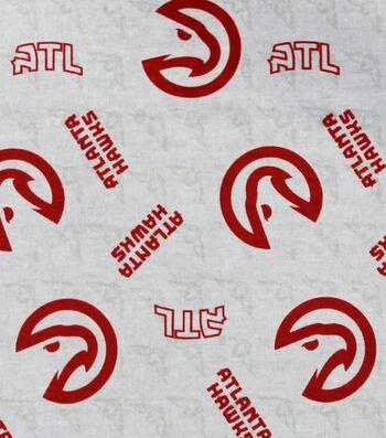 Atlanta Hawks Cotton Fabric -Logo Toss