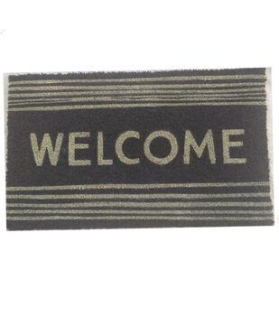 Patio Oasis Coir Doormat-Welcome on Gray