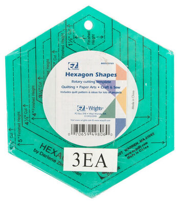 Wrights Colored Template Shapes-Hexagon