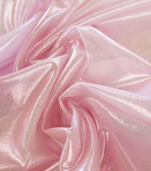 Dance Performance Ultra Sheen Foil Mesh Fabric-Taffy Pink